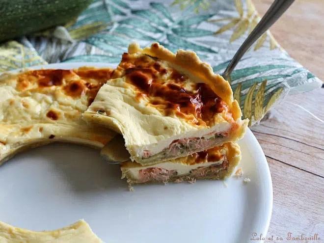Tarte au saumon,tarte au saumon fumé,tarte au saumon courgette,tarte au saumon et chevre frais,quiche au saumon courgettes et chèvre