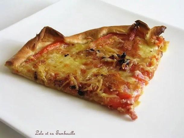 Tarte aux tomates, lardons & moutarde