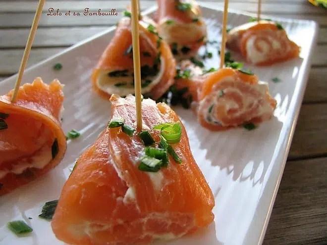 Roulades de saumon