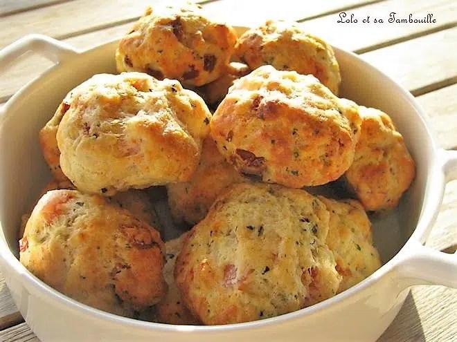 Cookies au bacon & tomates séchées