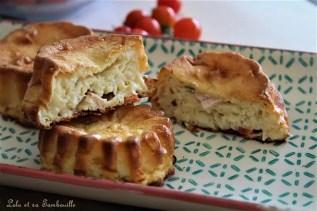 Quichettes sans pâtes au jambon, tomates & moutarde (6)