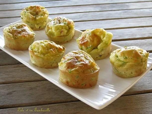 Muffins moelleux à la courgette & bacon