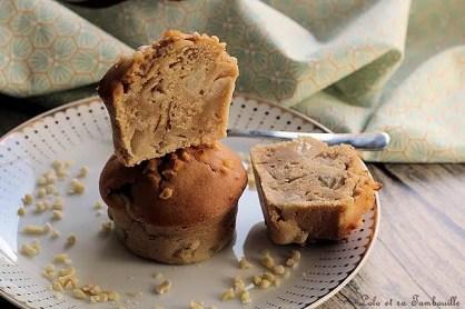 Muffins poires & pâte de spéculoos (1)