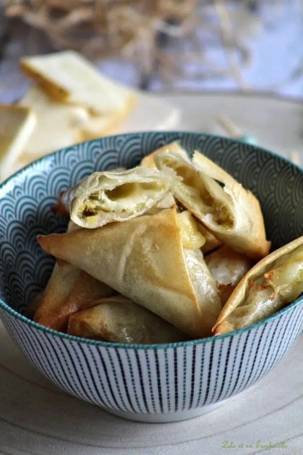 Samossas de poireaux & raclette