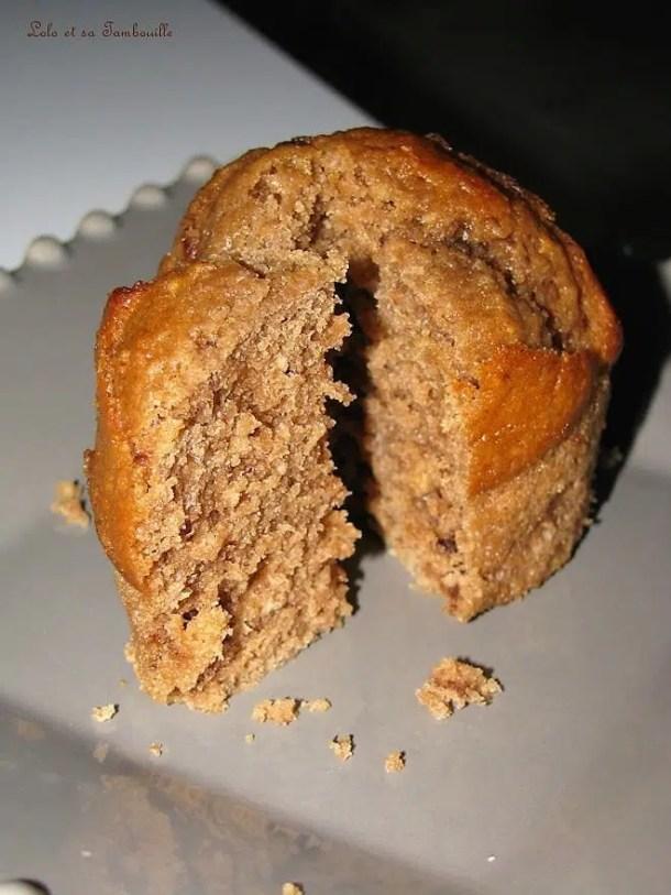 Muffins chocolat au lait aux éclats de noisettes