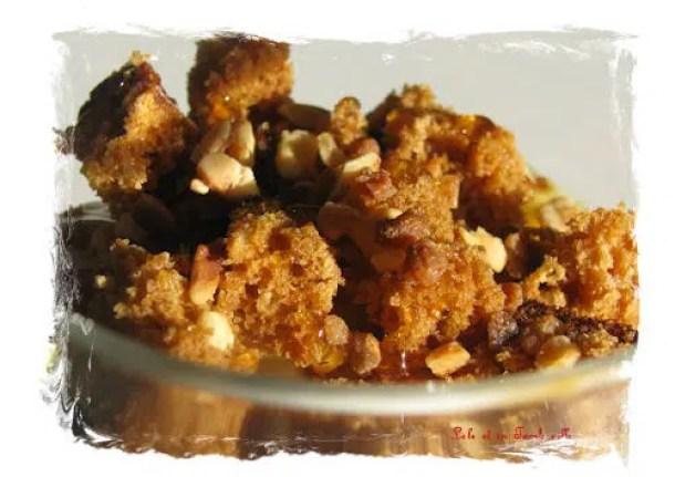 Verrines express de fromage blanc au miel sur lit de pain d'épices