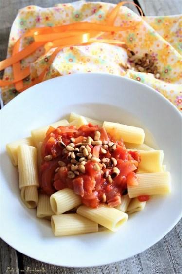 Compotée de tomates au bacon & pignons de pin (3)