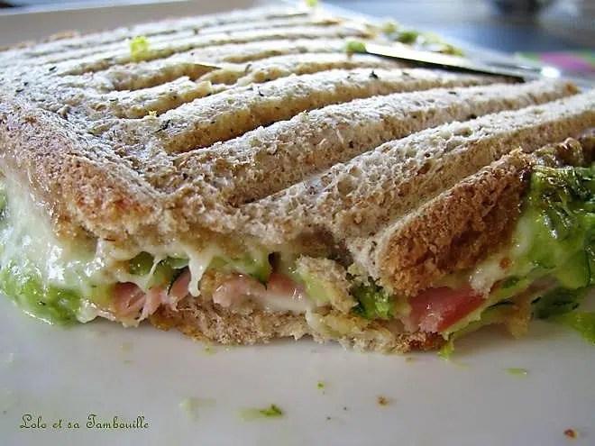Croques-monsieur aux courgettes & bacon