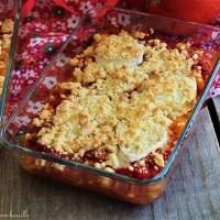 Crumble de tomates au miel & chèvre