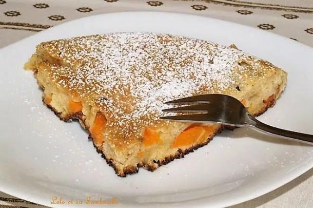 Gâteau à la poêle aux abricots & à la fleur d'oranger