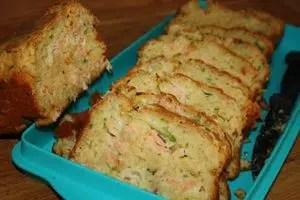 cake fondant aux courgettes et saumon fumé sylvie