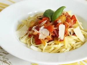compotée de tomates miel et bacon graziella made in cooking