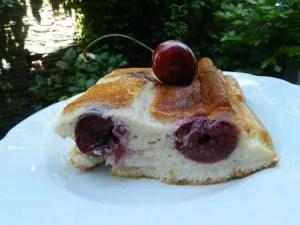gâteau au fromage blanc et aux cerises nanou