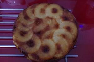 ludivine gâteau renversé aux pommes avec ananas