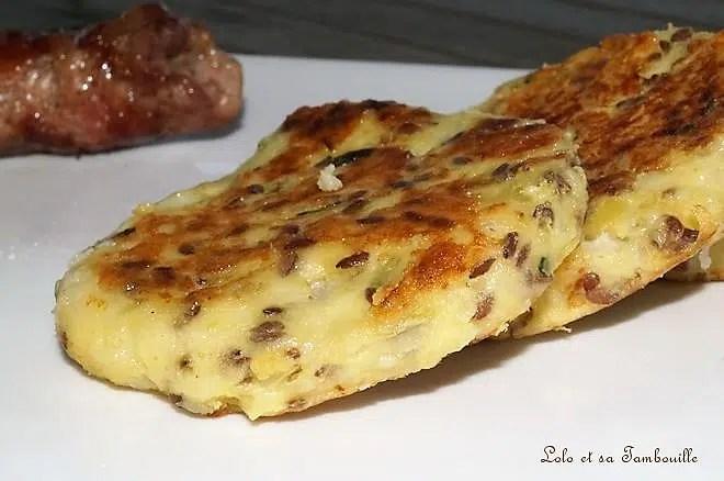 Galettes de pommes de terre au fromage