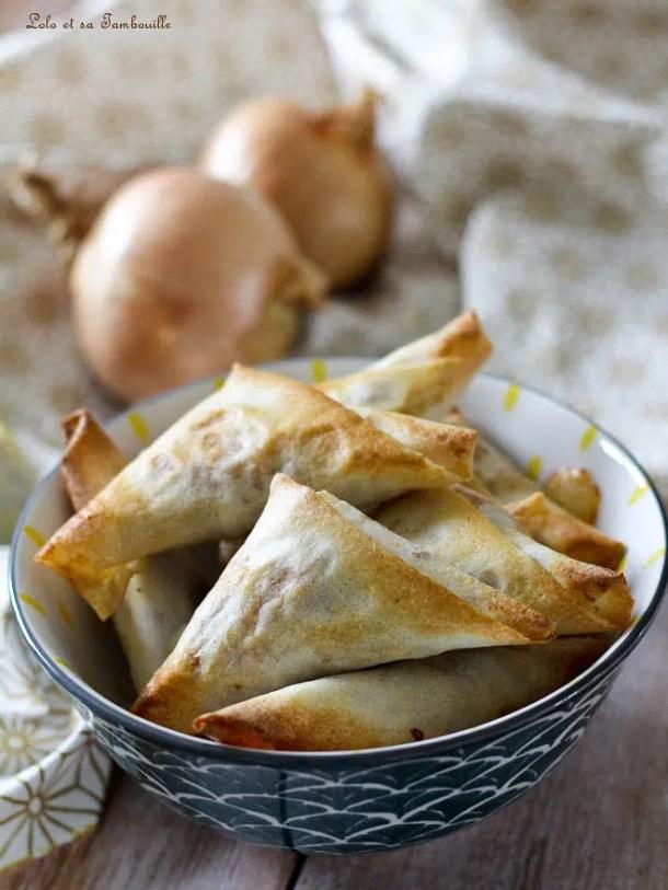 Samoussas de boeuf aux épices & mozzarella