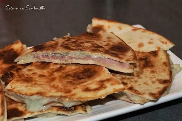 Quesadillas au bleu & bacon