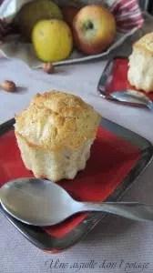 muffins aux pommes et noisettes