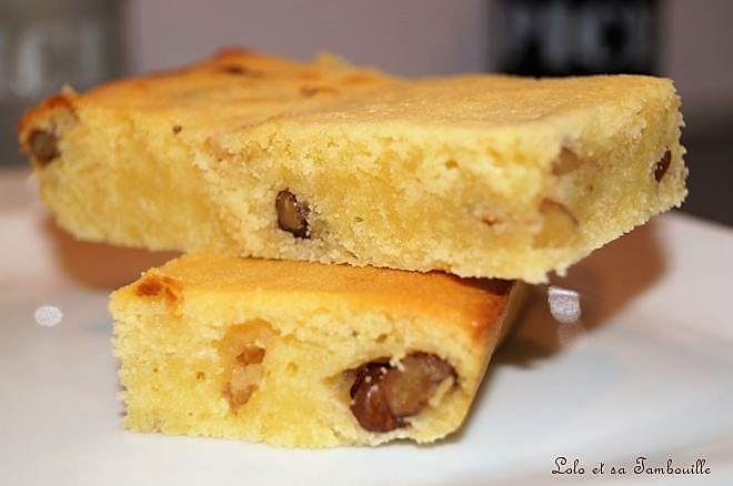 Brownie au chocolat blanc