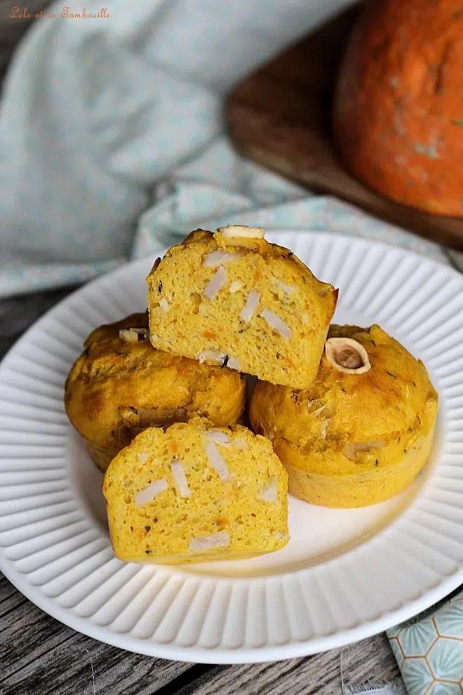 Muffins au potimarron & bacon