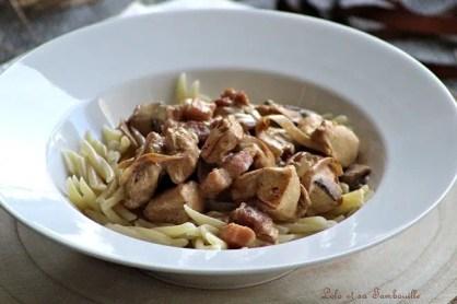 Sauté de poulet aux champignons & lardons (5)