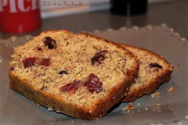 Cake aux noisettes & cranberries