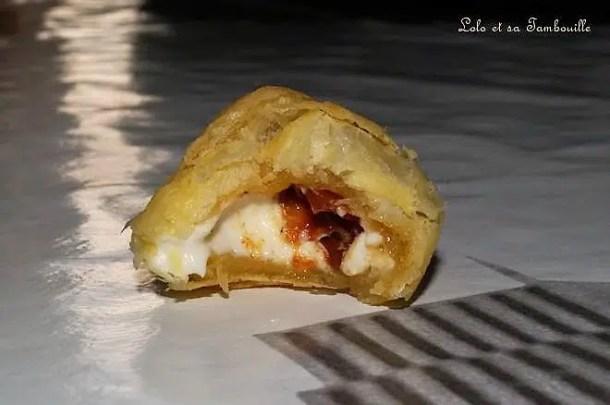 Croissants aux tomates séchées & kiri