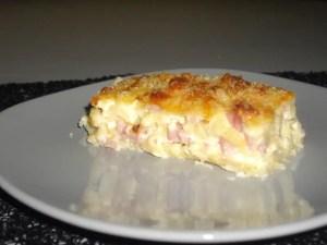 clafoutis de pâtes jambon gruyère jessica