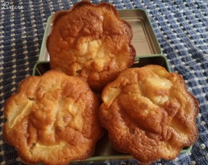 gâteaux rapides aux pommes et pépites de nougatine christelle