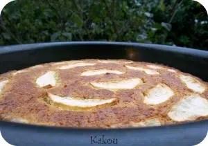moelleux pommes et cannelle Kakou