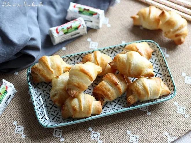 mini croissants au chèvre,mini croissants au chevre et miel,mini croissant chèvre tomate