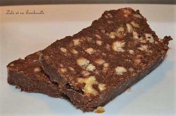 Fondant glacé au chocolat & noix