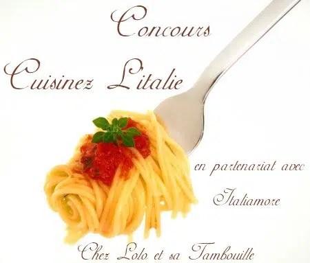 Résultats du concours Cuisinez l'Italie