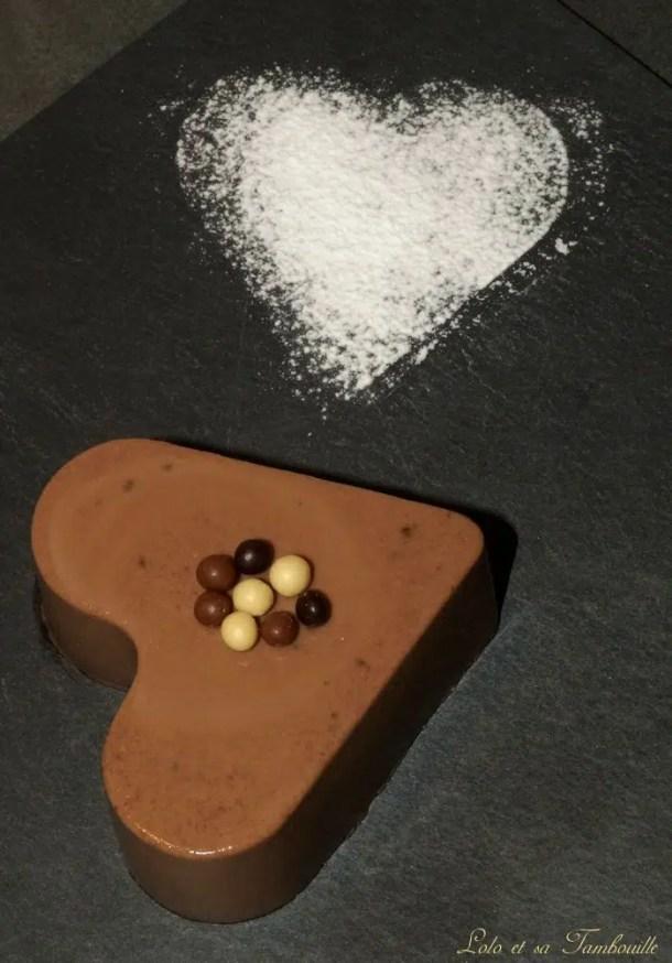 Flans au chocolat & crème d'amande {sans œufs}