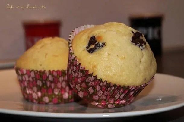 Muffins au lait ribot & chunks de chocolat