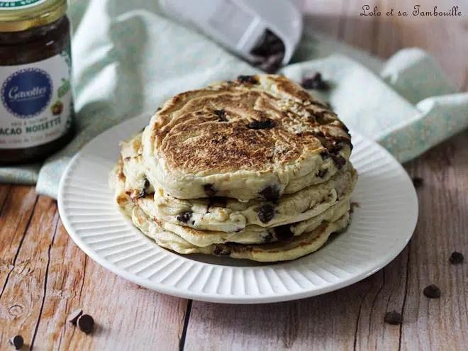 pancakes pépites de chocolat