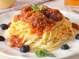 spaghettis aux boulettes de viande à l'italienne Samar