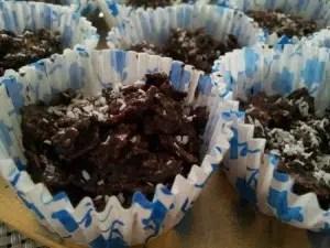 Roses des sables aux truffes chocolat et noix de coco