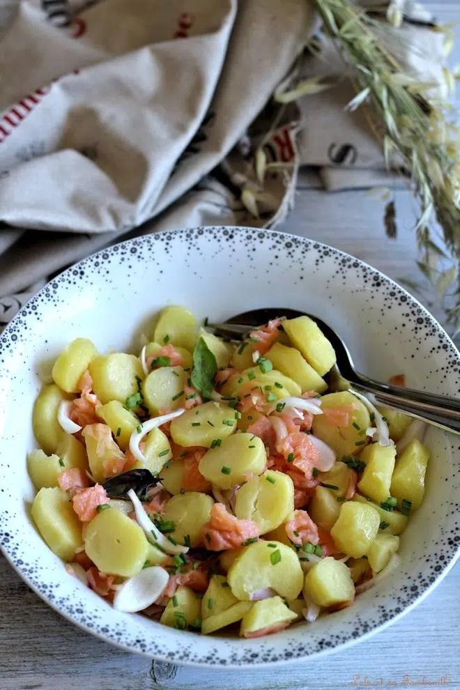 Salade de pommes de terre & saumon fumé