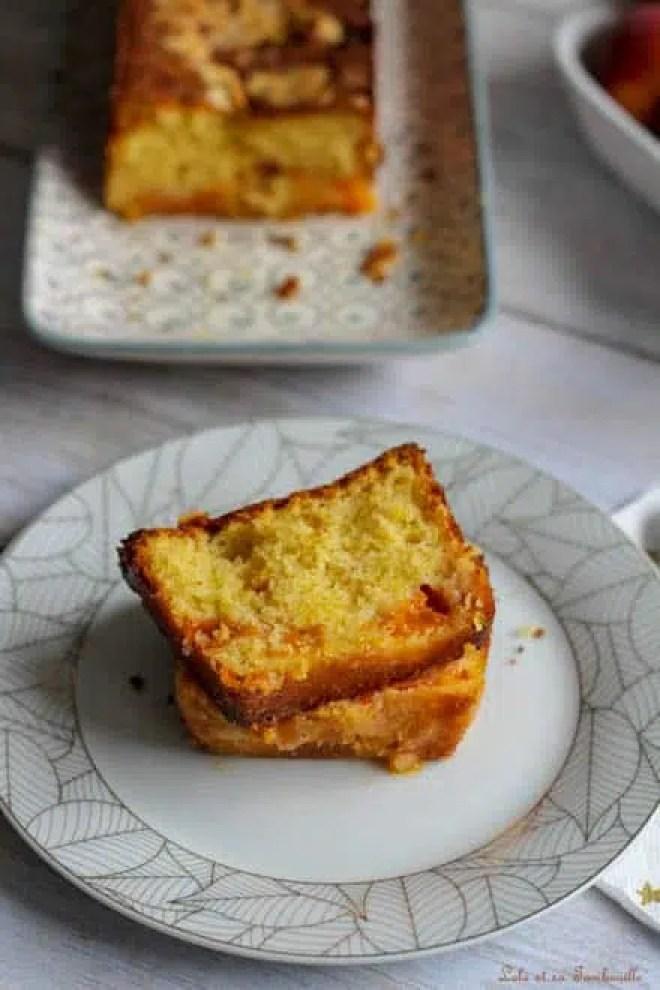 Cake aux abricots & amandes effilées