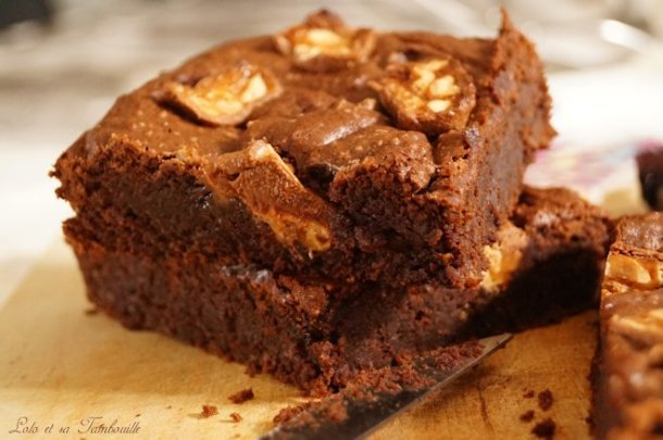Brownies aux Snickers® {très fondant}