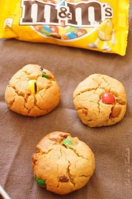 Cookies au beurre de cacahuètes & mm's (4)