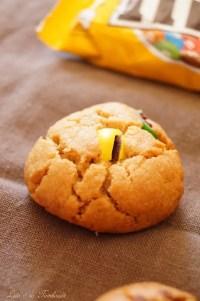 Cookies au beurre de cacahuètes & mm's (6)