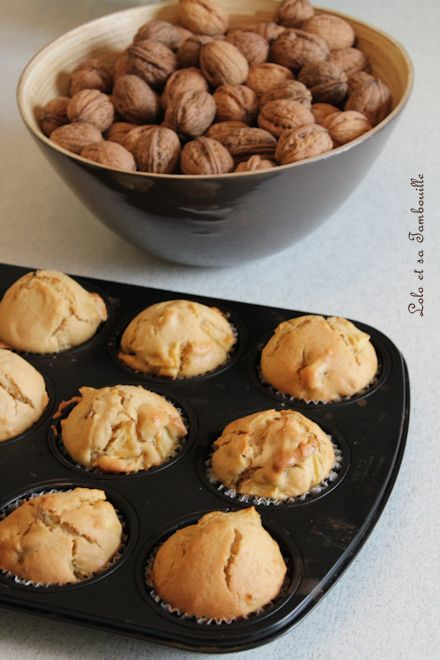 Muffins à la pomme, noix & spéculoos (3)