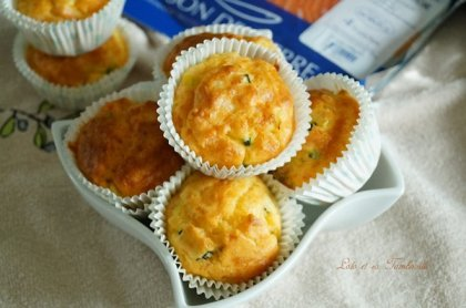 Muffins aux courgettes & saumon fumé (4)