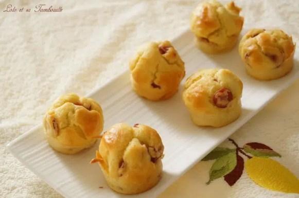 Muffins aux kiri & knackis....