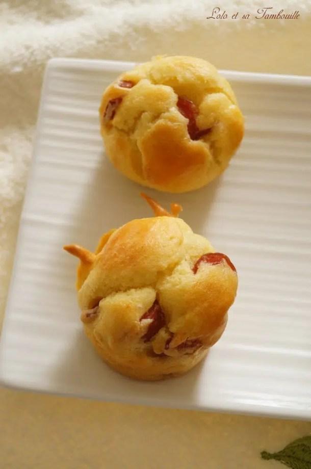 Muffins aux kiri & knackis