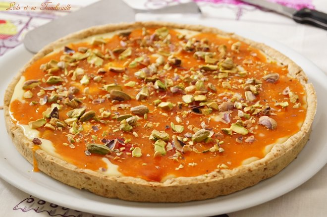 Tarte aux abricots & chocolat blanc