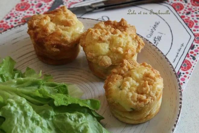 Muffins crumble au chorizo & chèvre