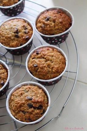 Muffins bananes & flocons d'avoine
